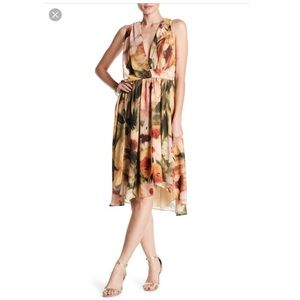 NEW Haute Hippie Grecian floral Drape Dress Size S